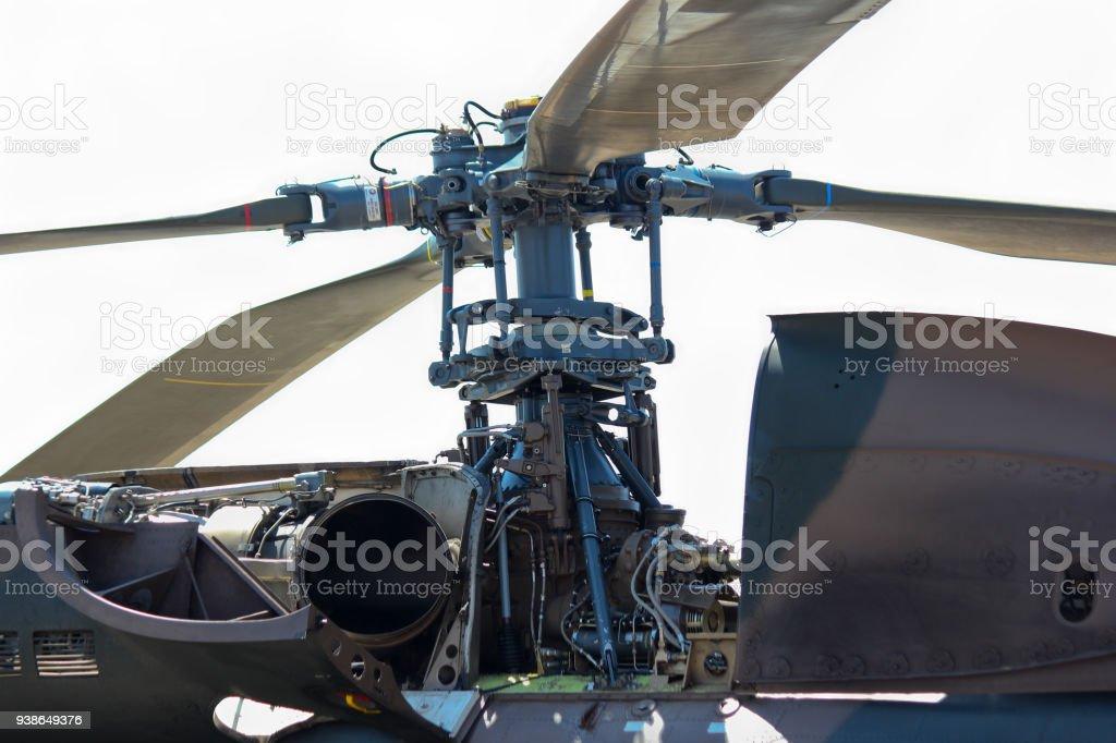 Atlas Oryx Rotor Head Detail stock photo