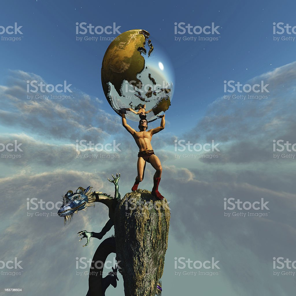 Atlas royalty-free stock photo