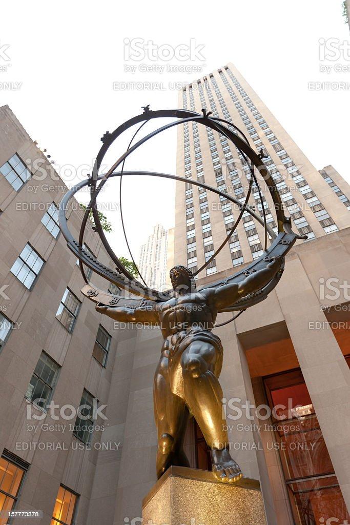 Atlas Statue in Rockefeller Center stock photo