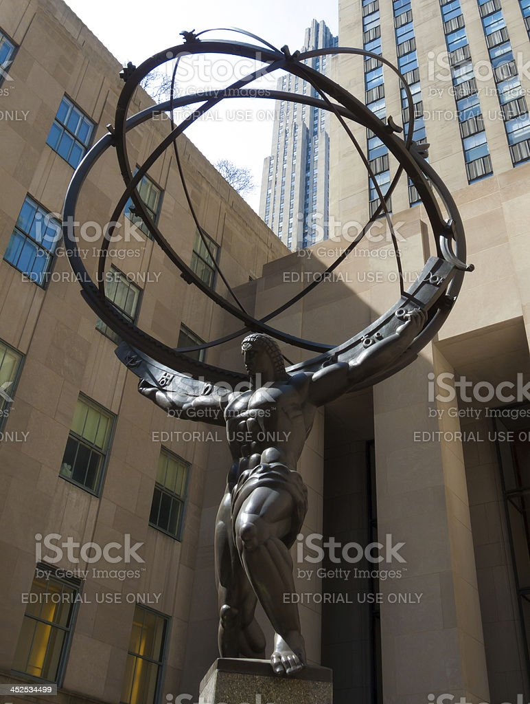 Atlas Statue stock photo