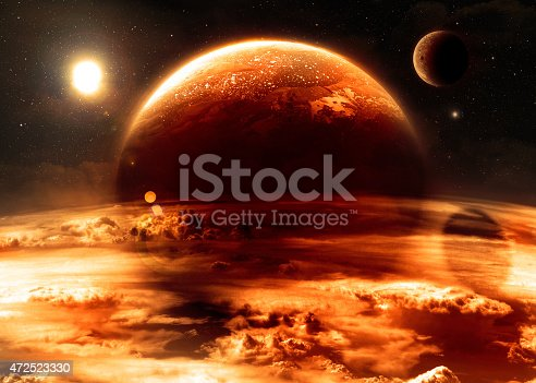 istock Atmosphere - Elements of this Image Furnished by NASA 472523330