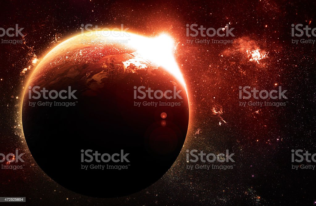 Atmosphere - Elements of this Image Furnished by NASA stock photo
