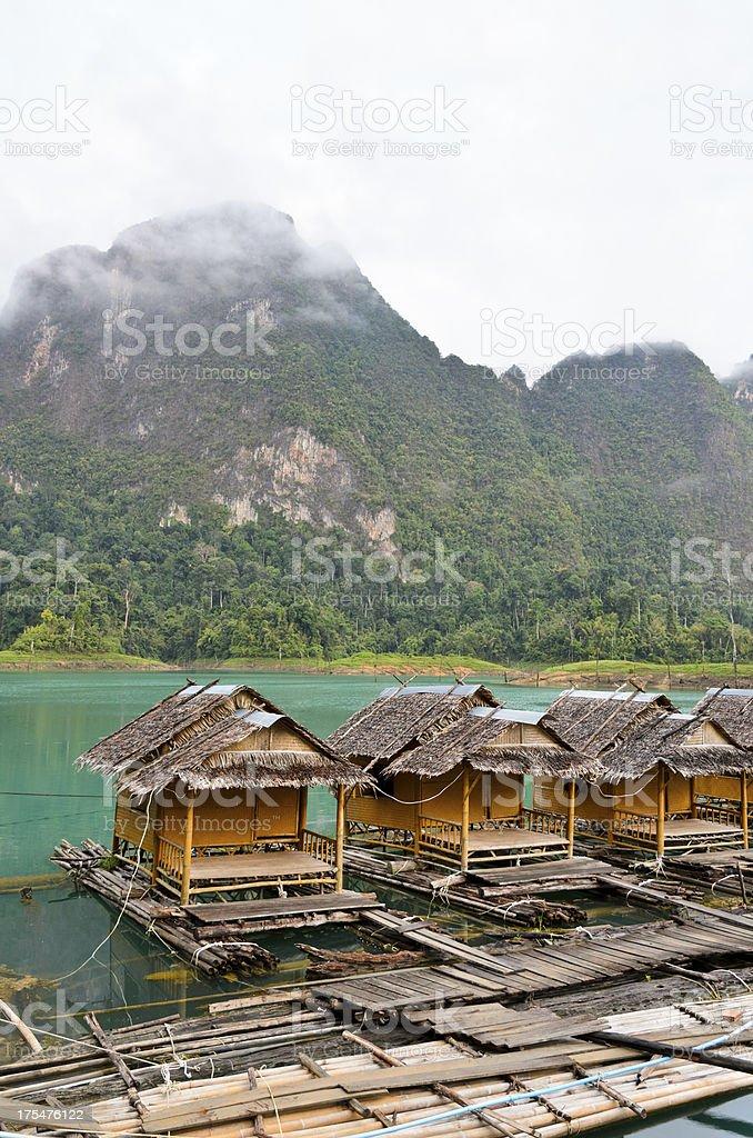 Atmosphere floating resort. stock photo