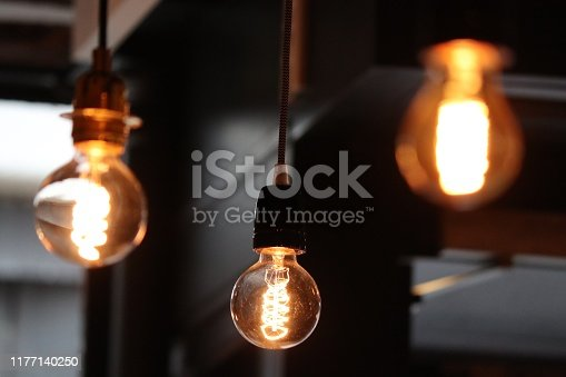 Several lights disposed on a dark background for a romantic mood