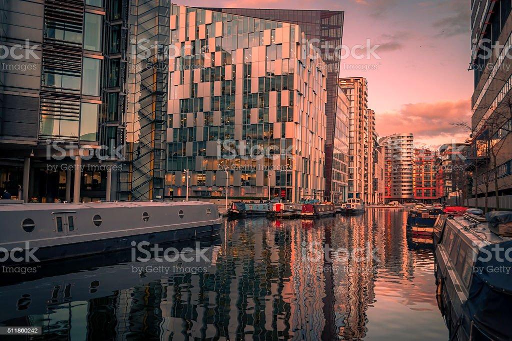 Stimmungsvolle Aufnahme von Wenig Venedig in der Der Regent Kanal, London – Foto