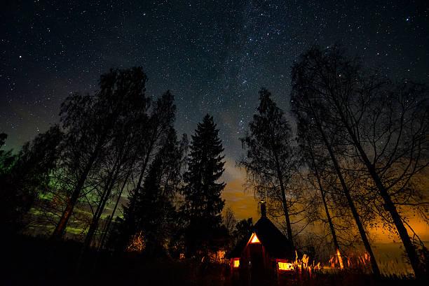 Atmospherical night stock photo
