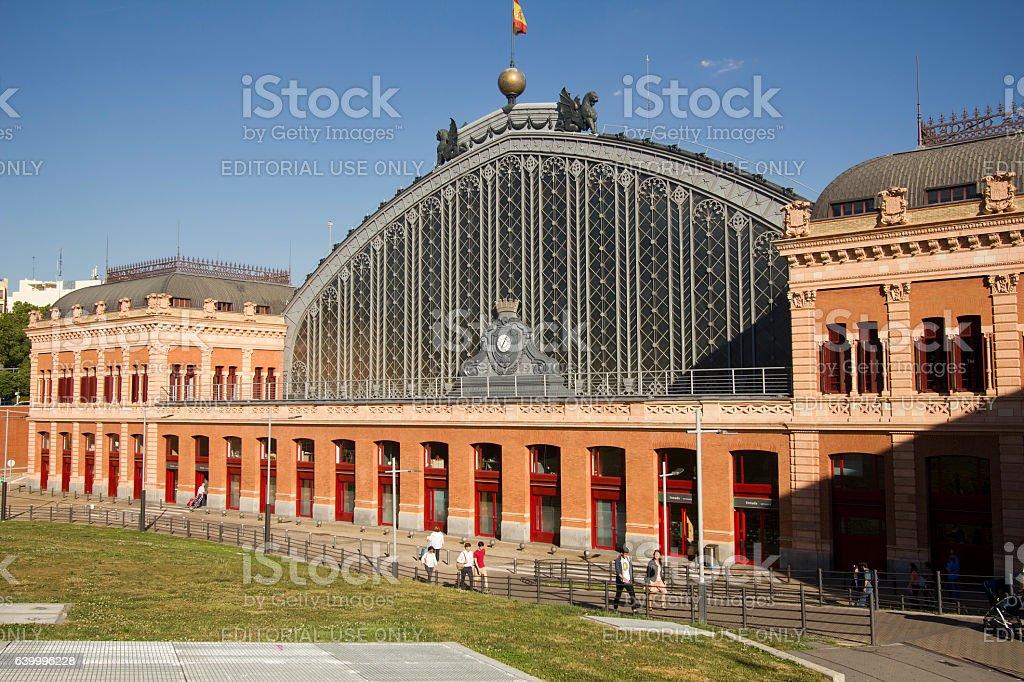 Atocha railway station in Madrid, Spain - foto de stock