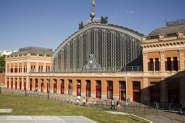 Atocha railway station in Madrid, Spain - foto de stock