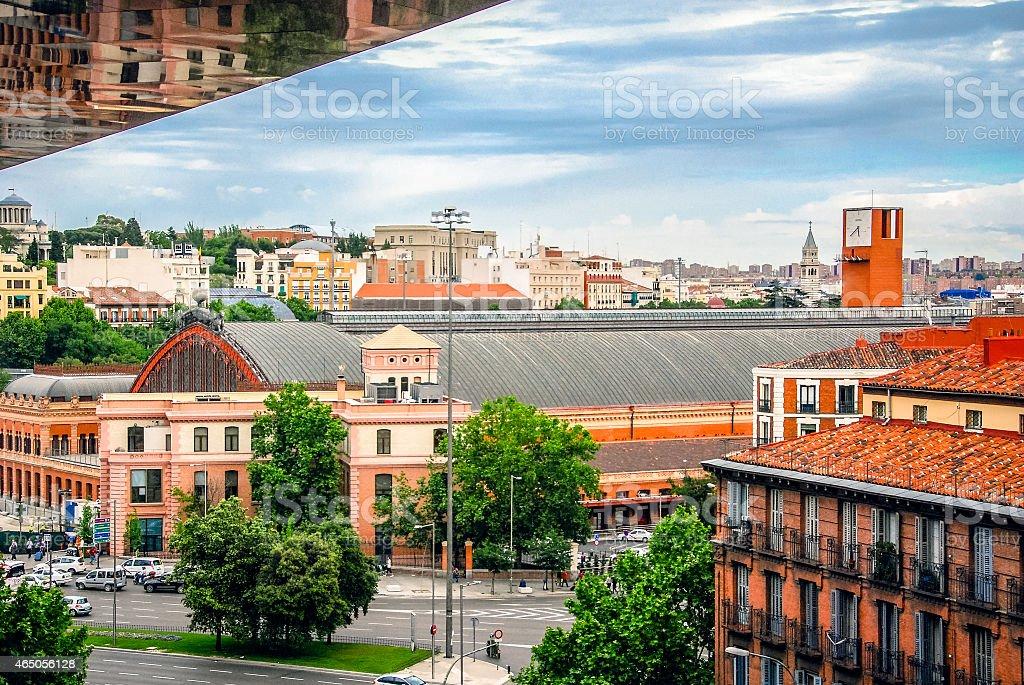 La estación de tren Atocha-Madrid, España - foto de stock