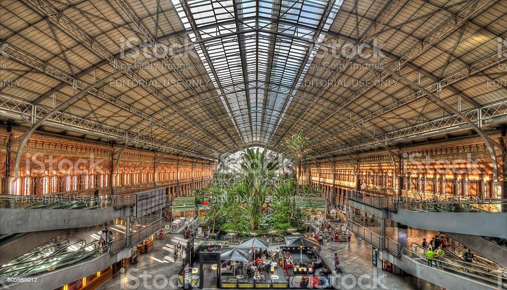 Atocha Railway Station Madrid, Spain - foto de stock