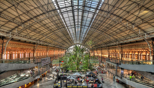 Atocha Railway Station Madrid, Spain - foto de stock