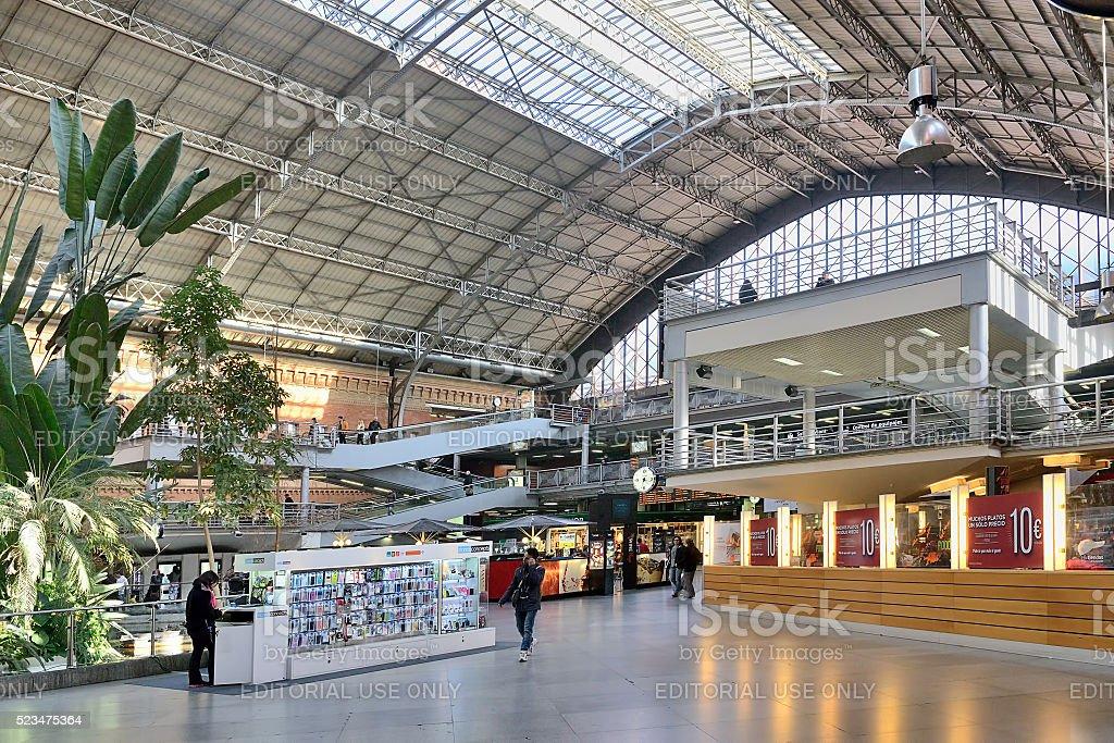 La estación de tren Atocha - foto de stock