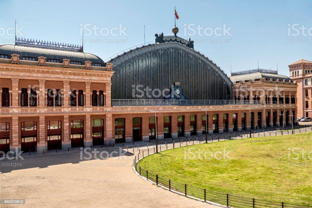 Estación de tren de Atocha de Madrid, España - foto de stock