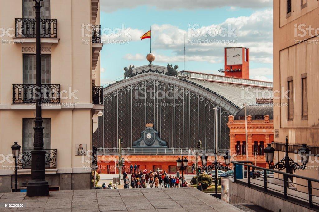 Estación de tren de Atocha - foto de stock