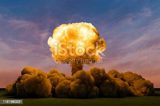Atom Bomb Explosion, 3D rendering