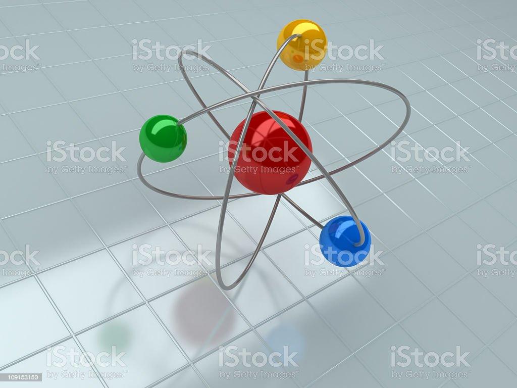 atom close up royalty-free stock photo