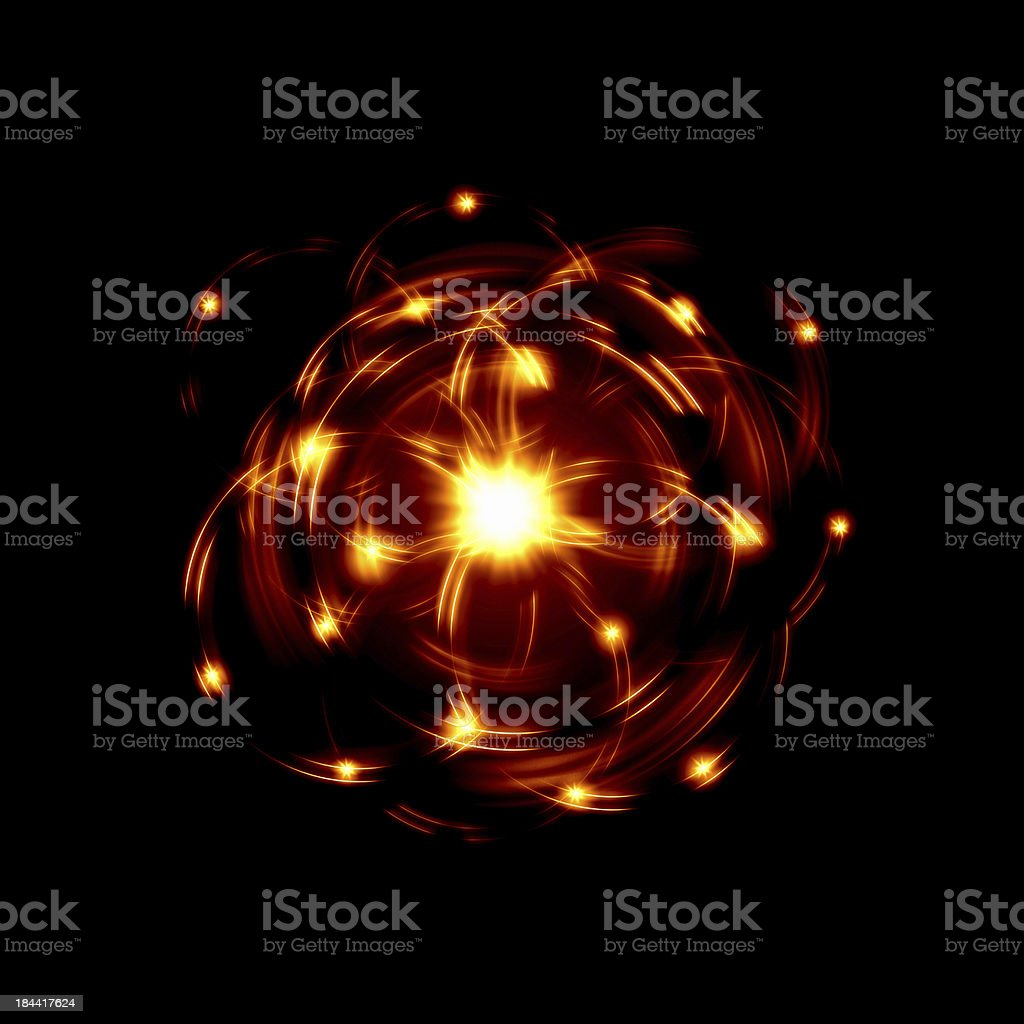 Atom image stock photo