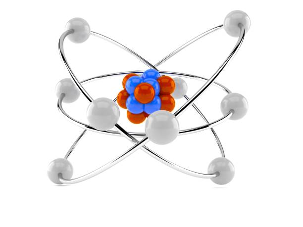 Atom model stock photo