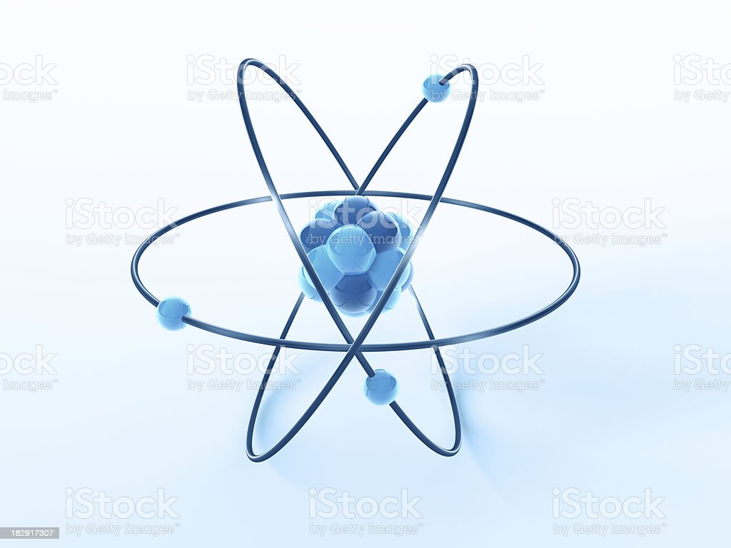 Atom Model Science Symbol royalty-free stock photo