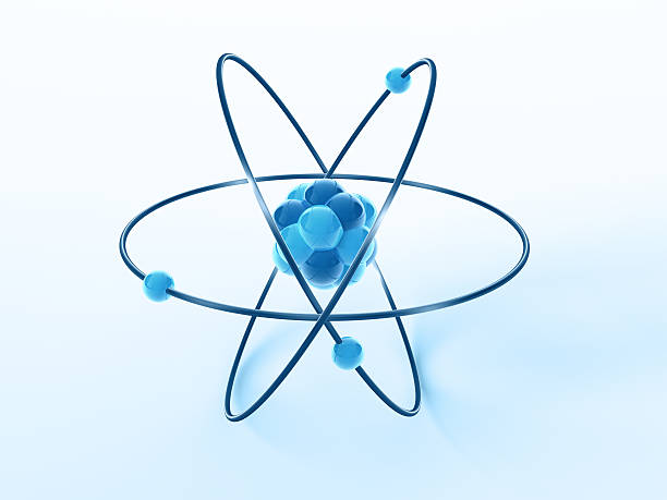 Atom Model Science Symbol 3D Render of a blue simplified Atom Model Science Symbol. Very high resolution available! Use it for Your own composings!Related images: molecule 3d stock pictures, royalty-free photos & images