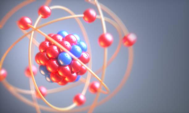 atom molecule - atomo foto e immagini stock