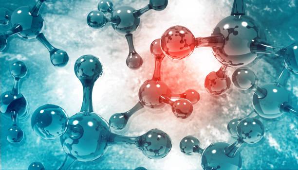 Atom Molecules stock photo
