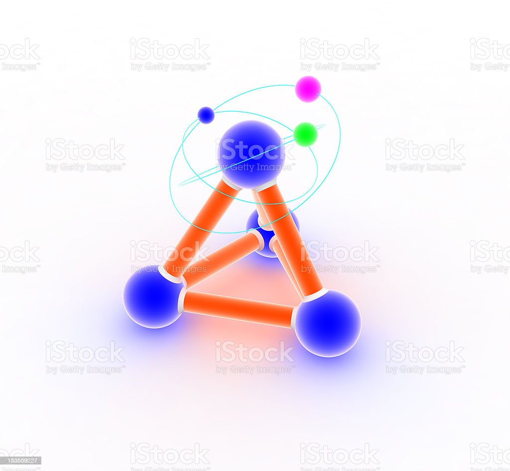 Atom on white. royalty-free stock photo