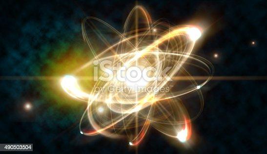 istock Atom Particle 490503504