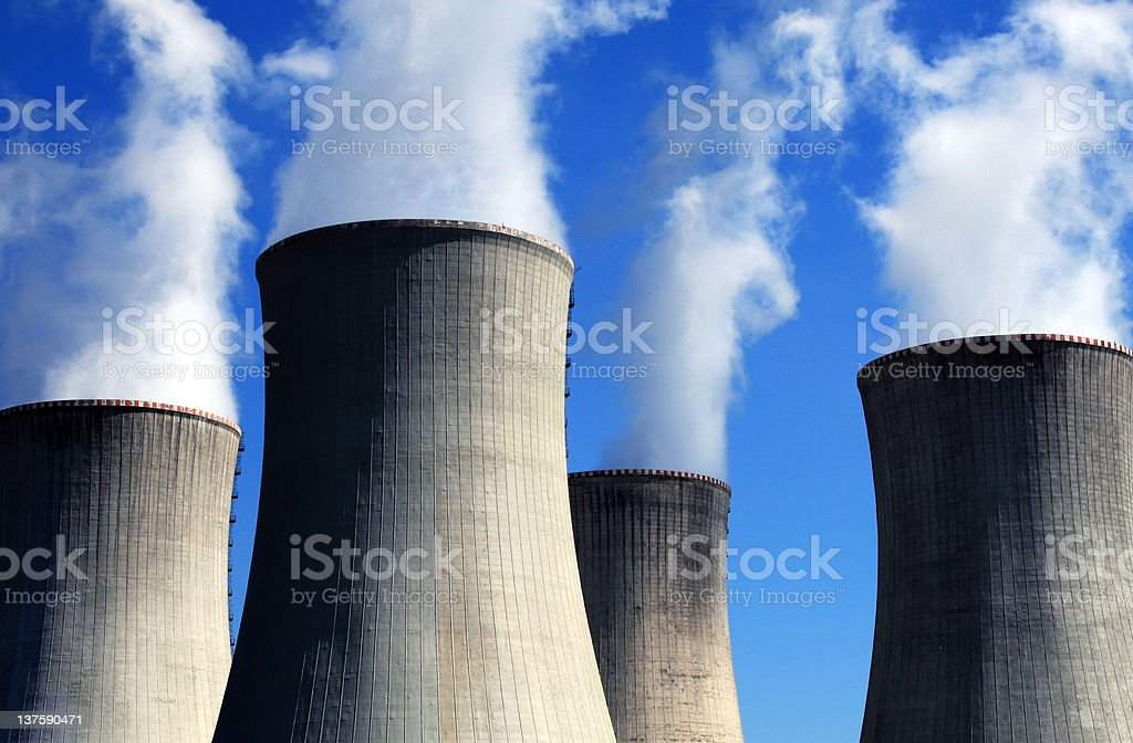 Atom power station royalty-free stock photo