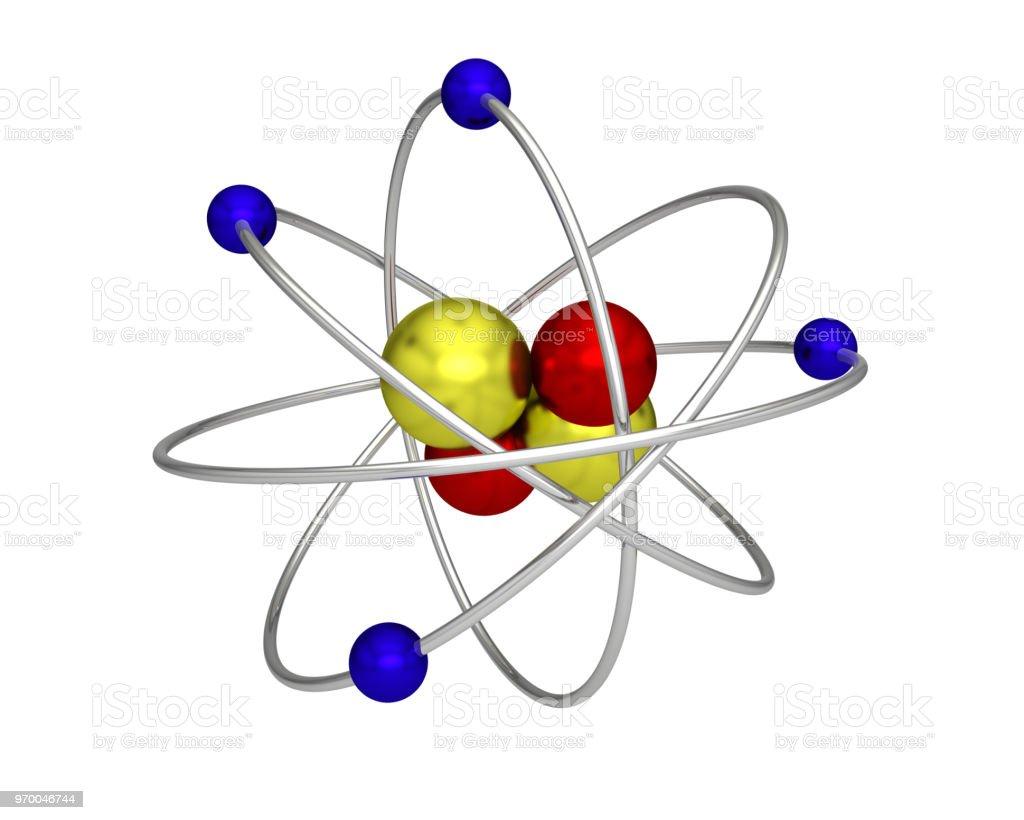 Foto De átomo Prótons Elétrons Nêutrons Atômica Física E Mais Fotos De Stock De Abstrato
