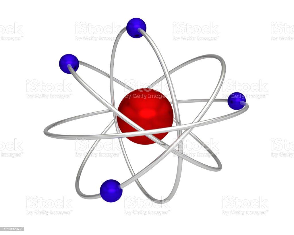 Foto De átomo Prótons Elétrons Nêutrons Atômica Física E