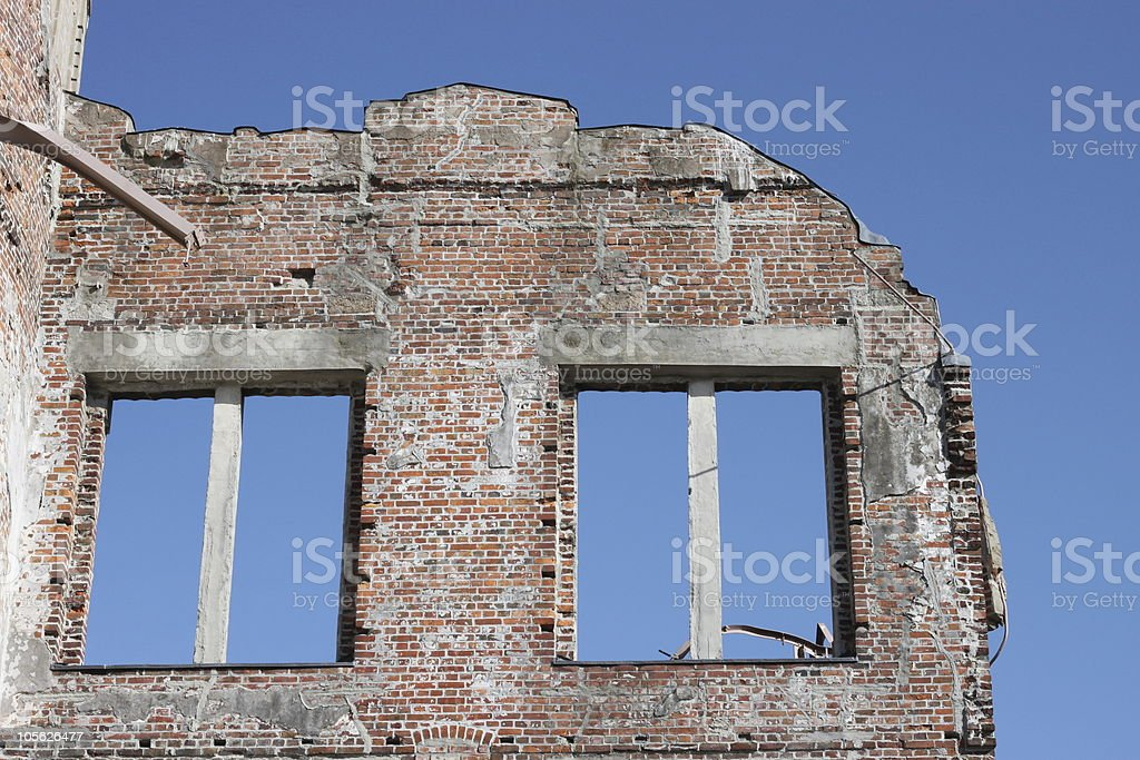Atomic Bomb Disaster Ruins royalty-free stock photo