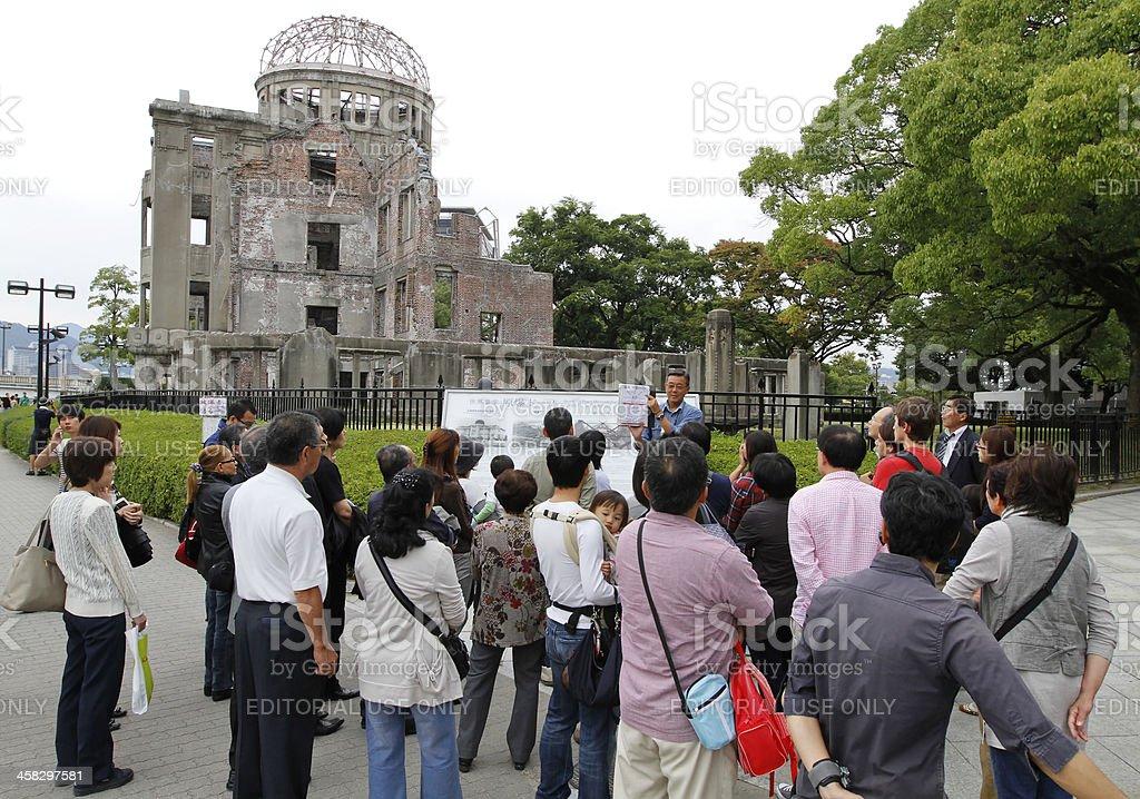 Atomic Bomb Dome at Hiroshima Peace Memorial Park stock photo