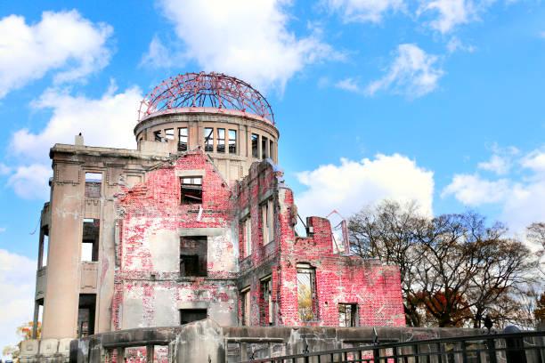 atomic bomb dome, hiroshima peace memorial, japan - hiroshima zdjęcia i obrazy z banku zdjęć