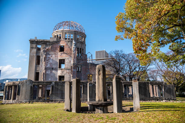 Atomic Bomb Dome in Hiroshima, Japan 24 march 2019 - Hiroshima, Japan: Atomic Bomb Dome in Hiroshima, Japan hiroshima prefecture stock pictures, royalty-free photos & images