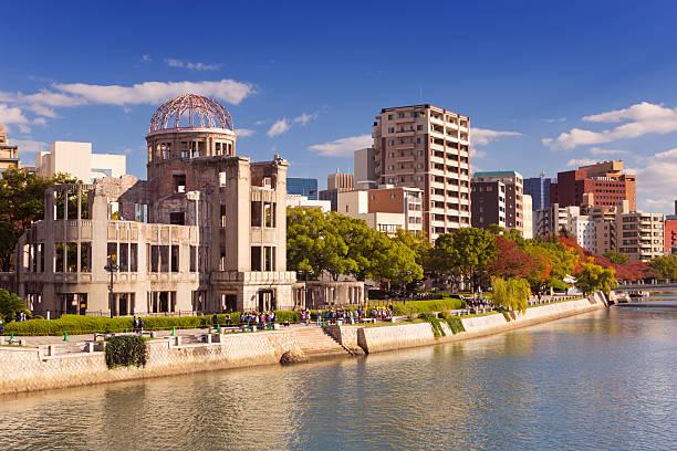 kopuła bomby atomowej w hiroszima, japonia - hiroshima zdjęcia i obrazy z banku zdjęć