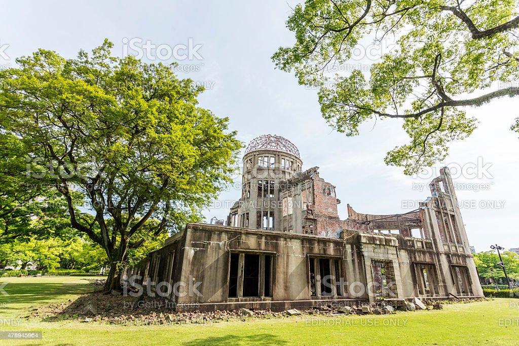 Atomic Bomb Dome in Hiroshima bildbanksfoto