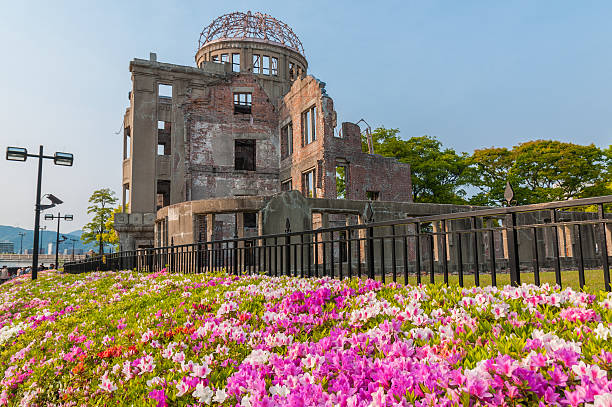 Atomic Bomb Dome in Hiroshima Atomic Bomb Dome memorial building in Hiroshima,Japan hiroshima prefecture stock pictures, royalty-free photos & images