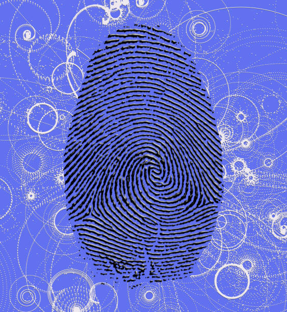 atomic fingerprint - elementary particle stock photos and pictures