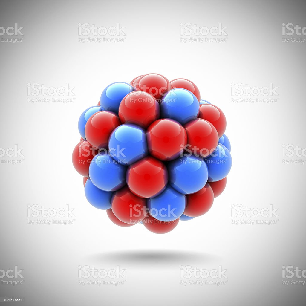 atomic nucleus stock photo