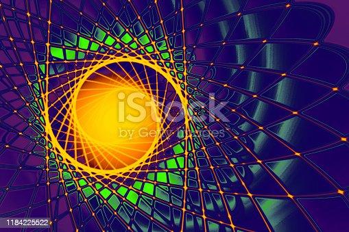 theme of physics, atomic nucleus, cosmos, astronomy