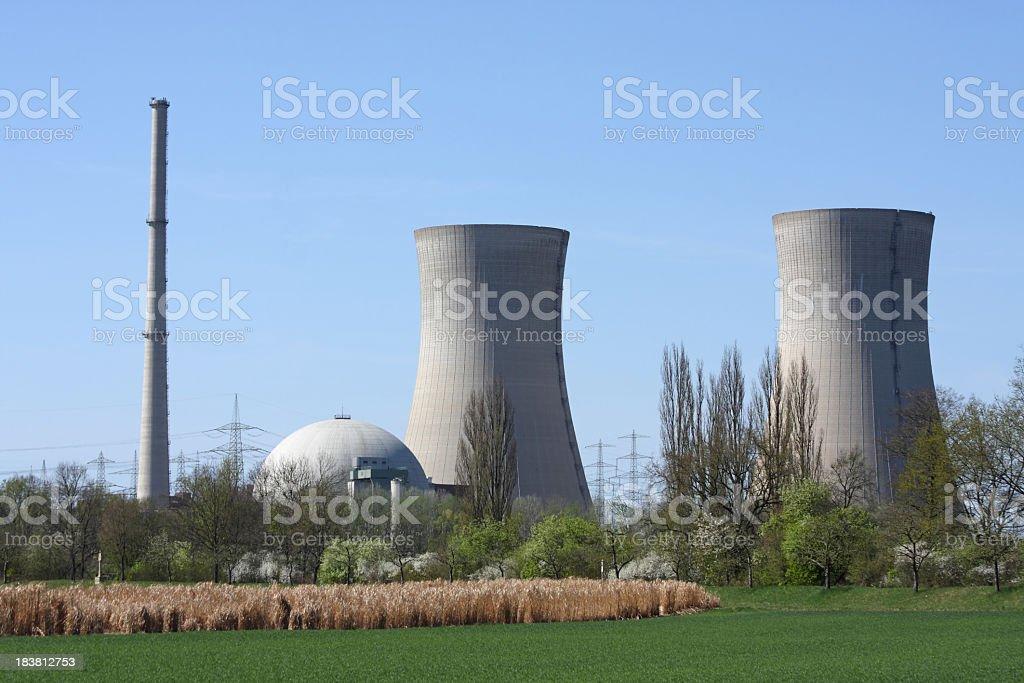 atomic power plant stock photo