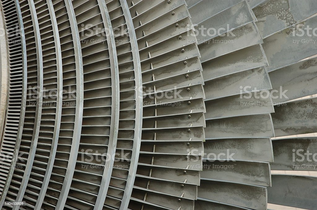atomic power plant turbine royalty-free stock photo