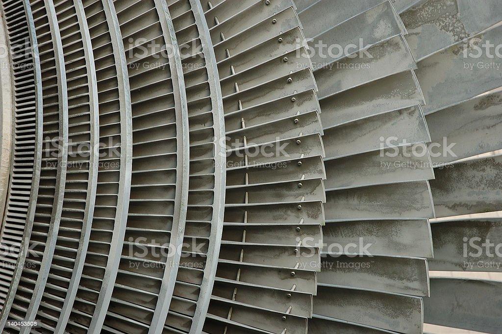 atomic power plant turbine stock photo