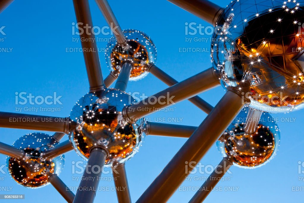 Atomium, Brussels, Belgium stock photo