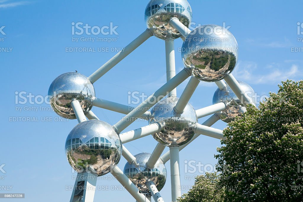 Atomium, the building in Brussels stock photo