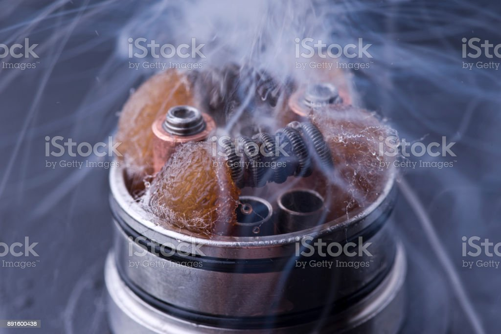 atomizer for the electronic cigarette stock photo