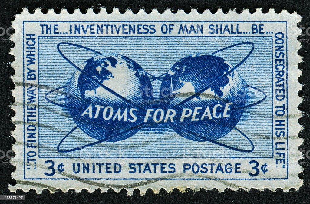 Atoms For Peace Stamp stock photo