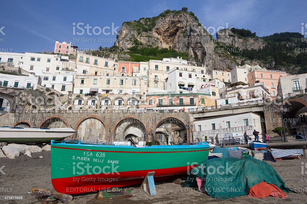 Atrani on the Amalfi Coast, Italy royalty-free stock photo
