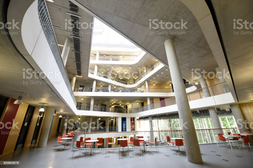 Atrium Architecture From Common Area Of Modern University Building ...